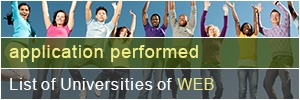 List of Universities of WEB application performed