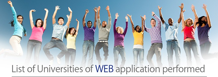 List of universities offering application by website