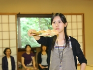 Teaching extends to practical Noh acting methods, which students can experience for themselves.